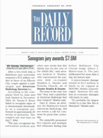 "The Daily Record - Sonogram Jury Awards $7.6M,"" The Daily Record"
