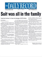 The Daily Record - Suit All In The Family [$1.8 million verdict]